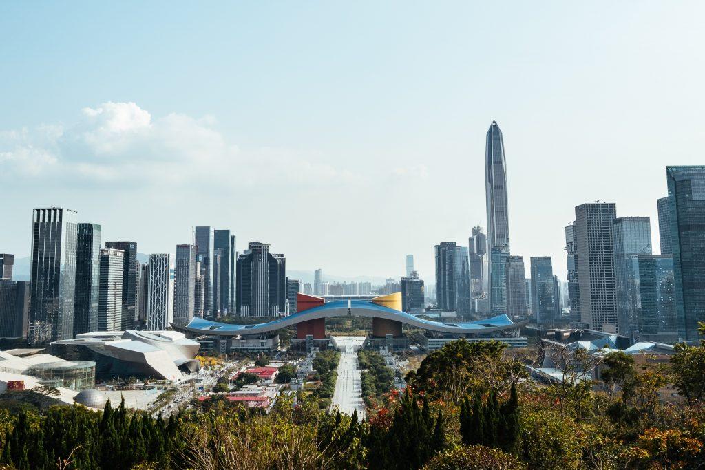 Shenzhen, centre d'affaires et des expositions
