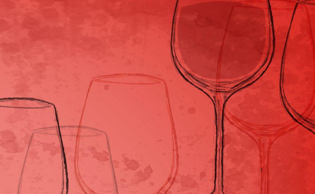 dessin crayonné à l'image de VinOmed, le salon des vins de l'oenoutourisme en Méditerranée