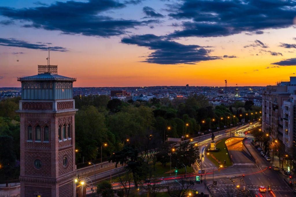 Couché de soleil sur Madrid